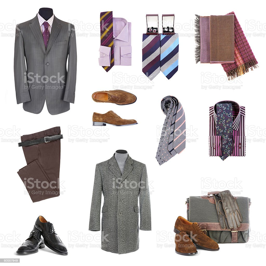 Men's clothes and accessories royalty-free stock photo