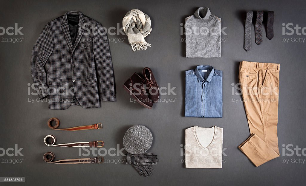 men's clothes stock photo