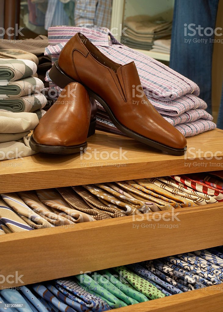 men's clothing store stock photo