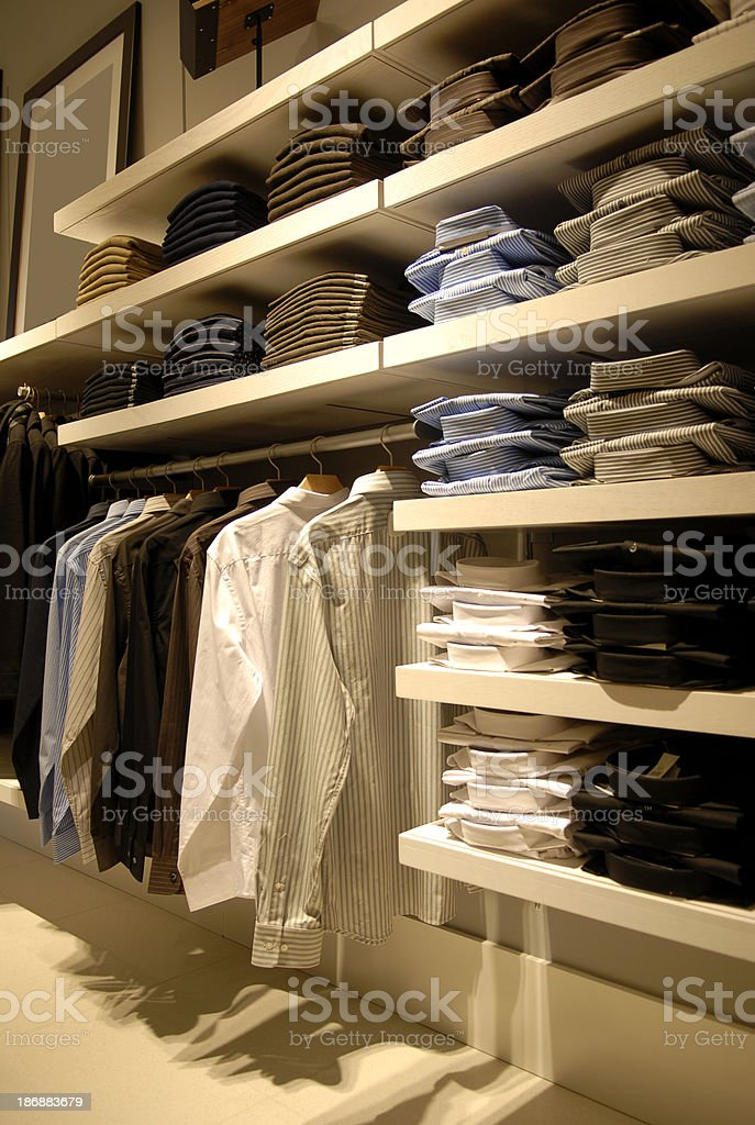 Mens clothing store royalty-free stock photo