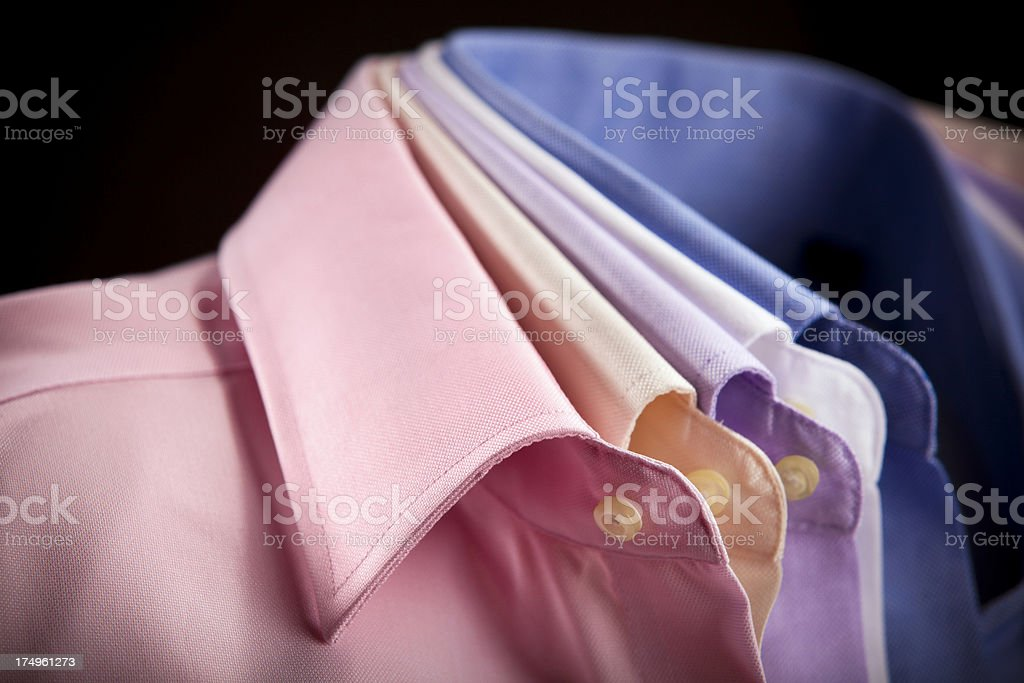 Mens dress shirts royalty-free stock photo
