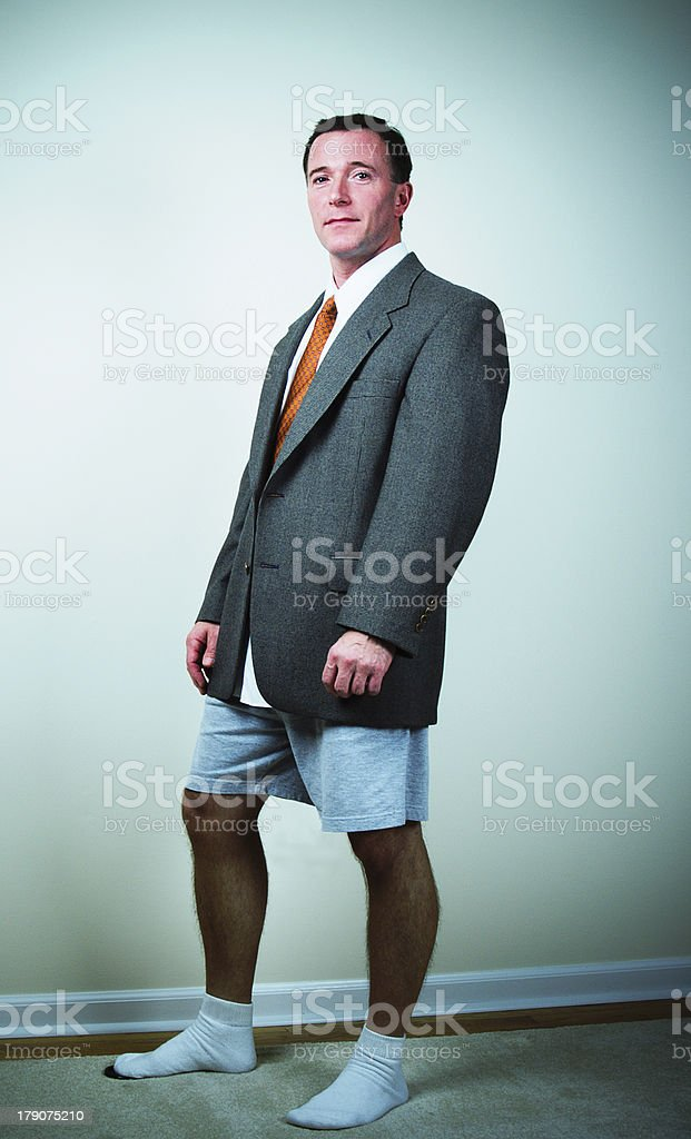 Men's Fashion Sport Coat, Boxer Shorts and Socks - XP royalty-free stock photo