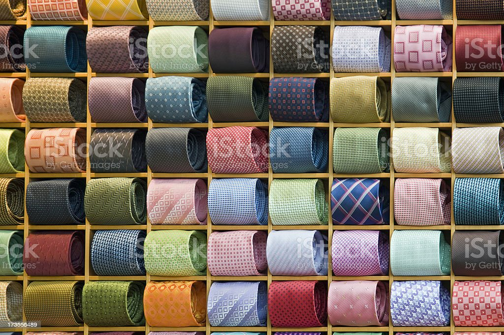 Men's Fashionable Ties royalty-free stock photo