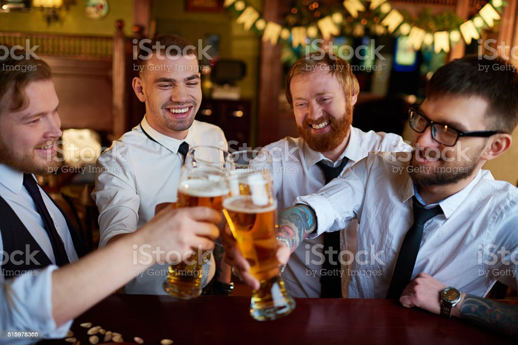 Men's friendship stock photo
