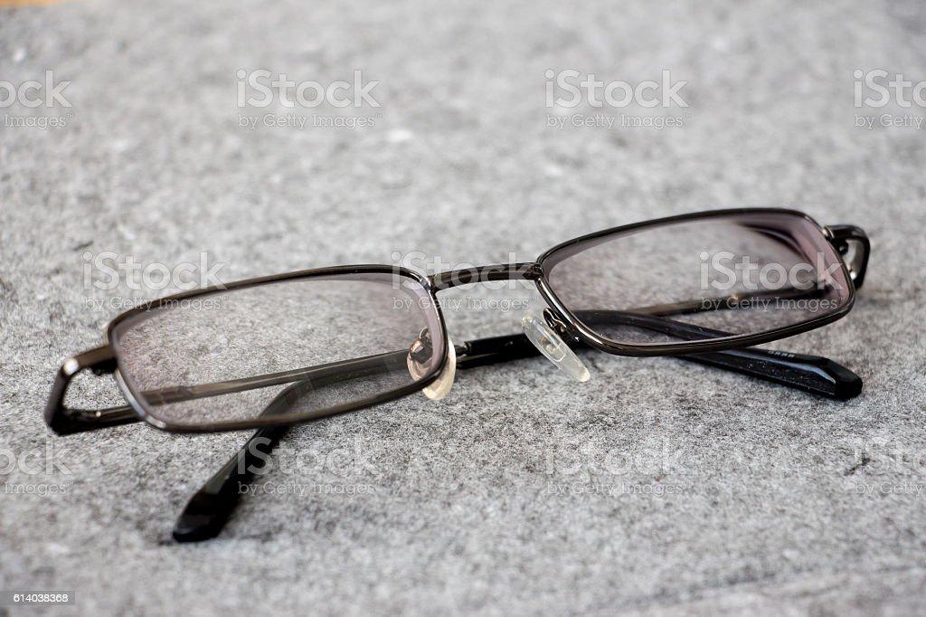 Men's glasses in the thin rim 2 stock photo
