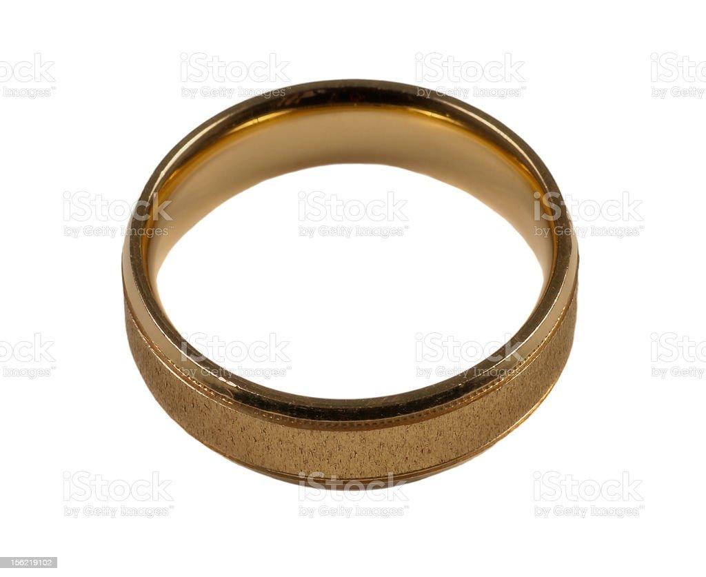 Men's gold wedding ring royalty-free stock photo