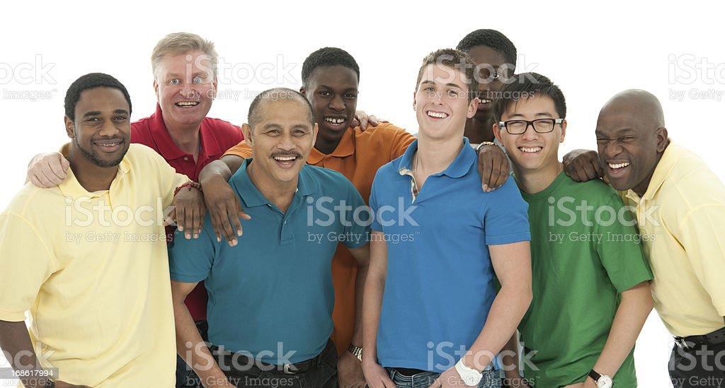 Men's group stock photo