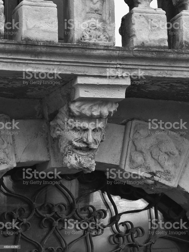 Mens head with beard royalty-free stock photo