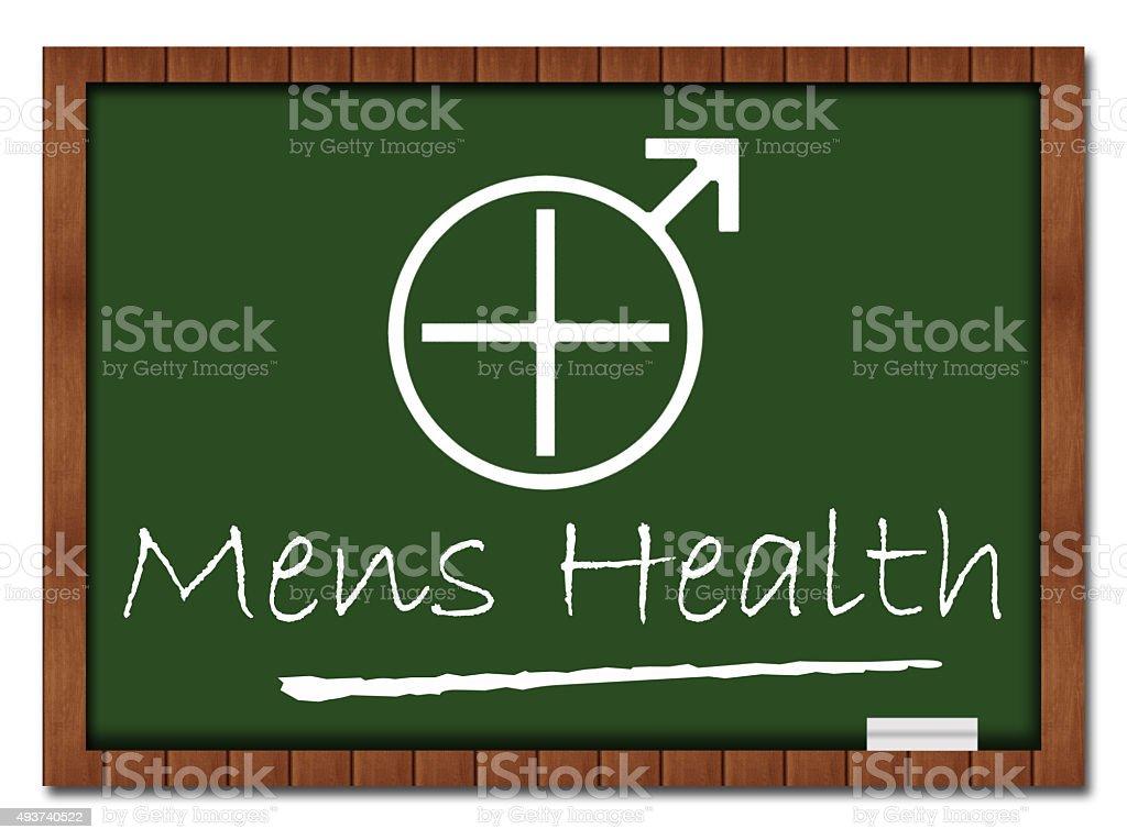 Mens Health Classroom Board stock photo