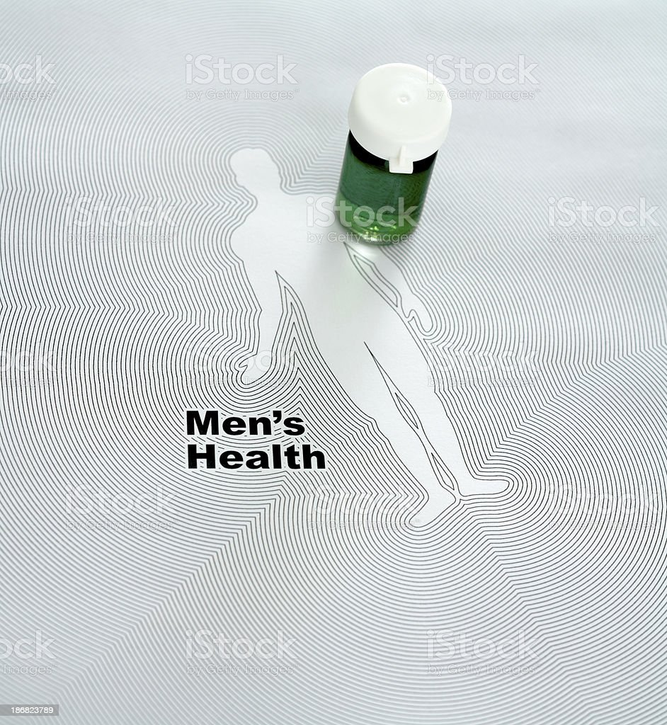 Men's health - Medicine royalty-free stock photo