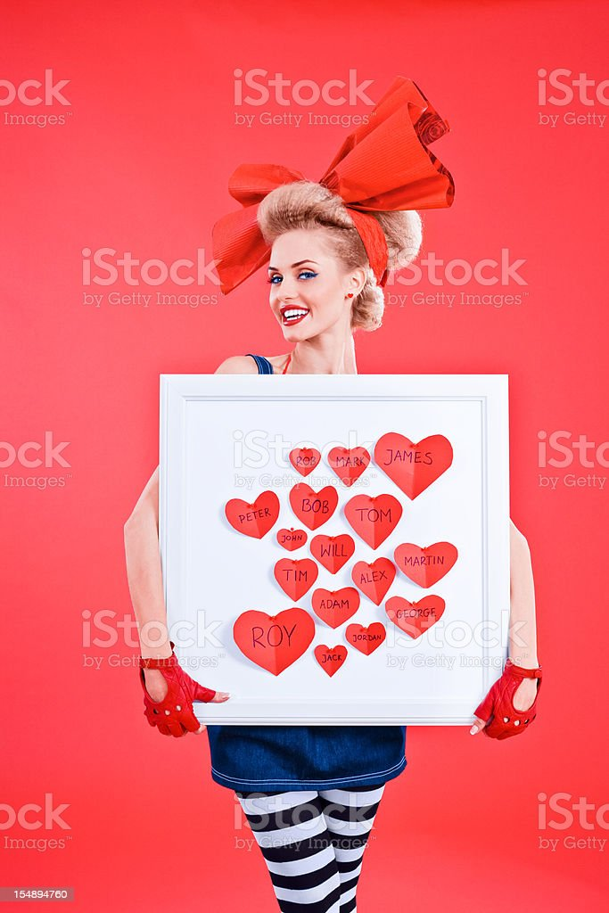 Men's Hearts Collector royalty-free stock photo