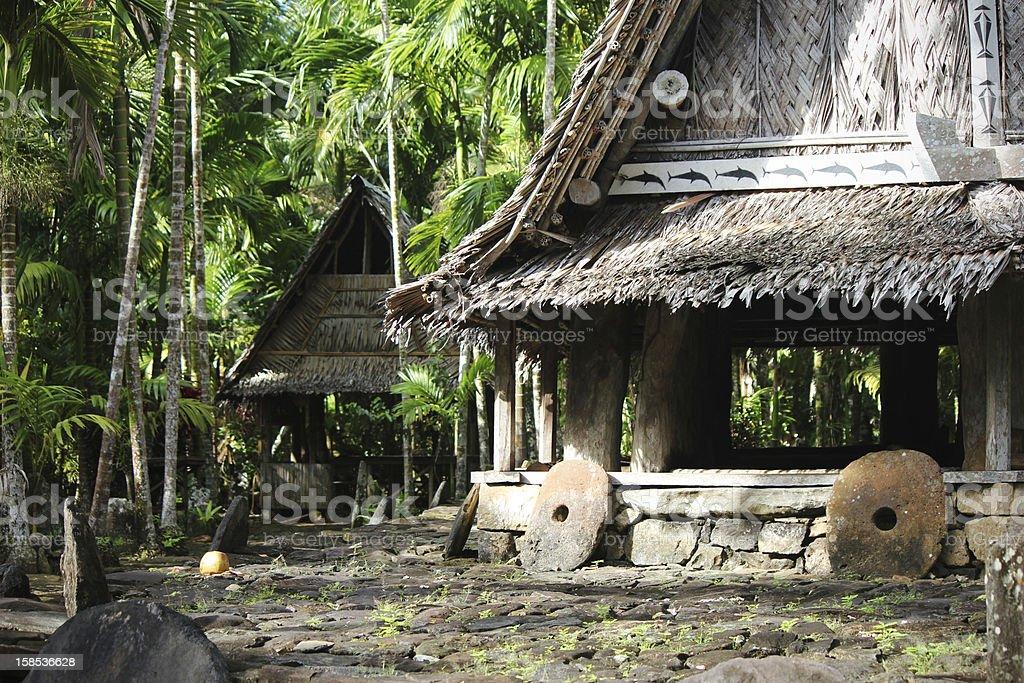 Men's Houses - Yap, Micronesia stock photo
