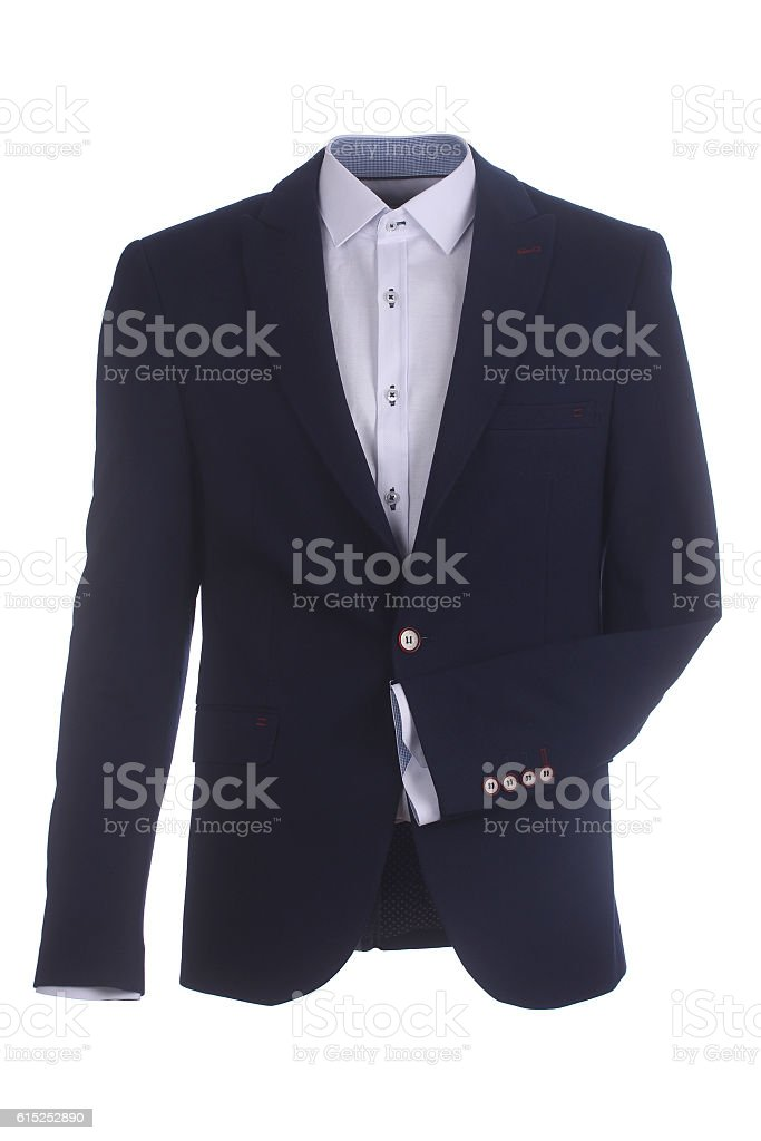 Men's isolated jacket stock photo