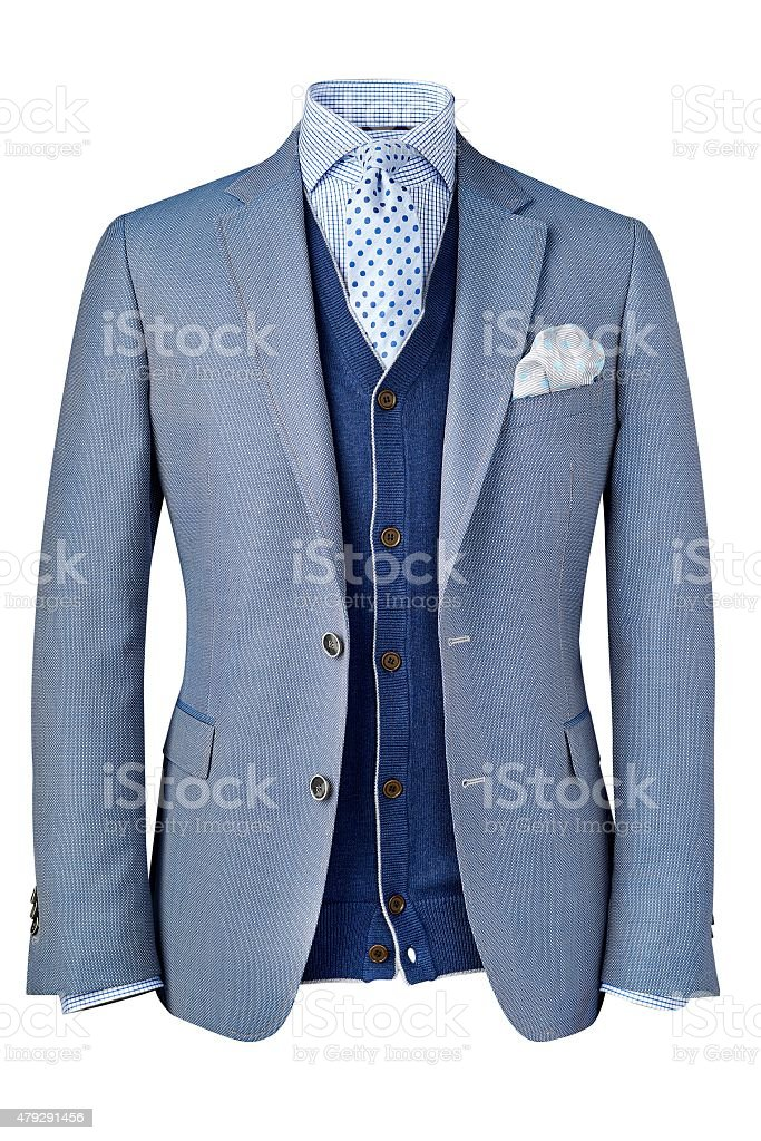 mens jacket isolated on white stock photo