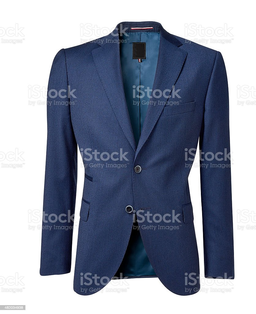 mens jacket isolated on white with clipping path stock photo
