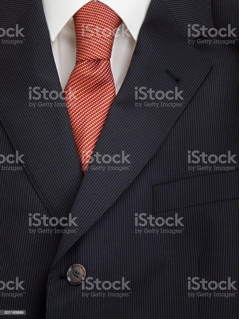 mens jacket shirt and tie stock photo