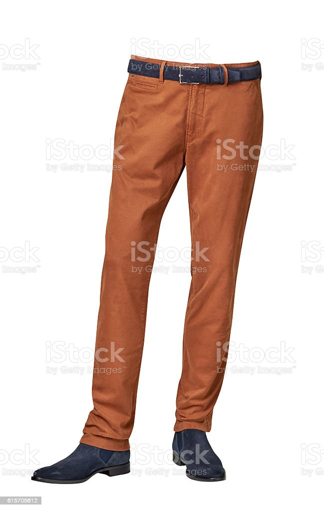 mens pants isolated on white background stock photo