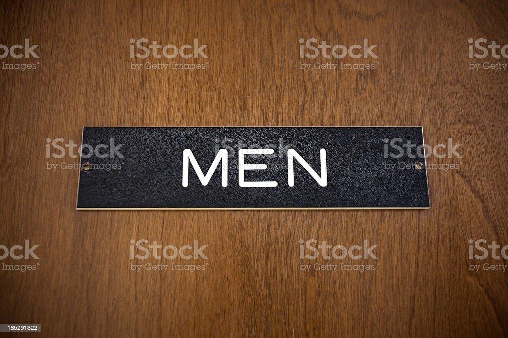 Mens Room royalty-free stock photo