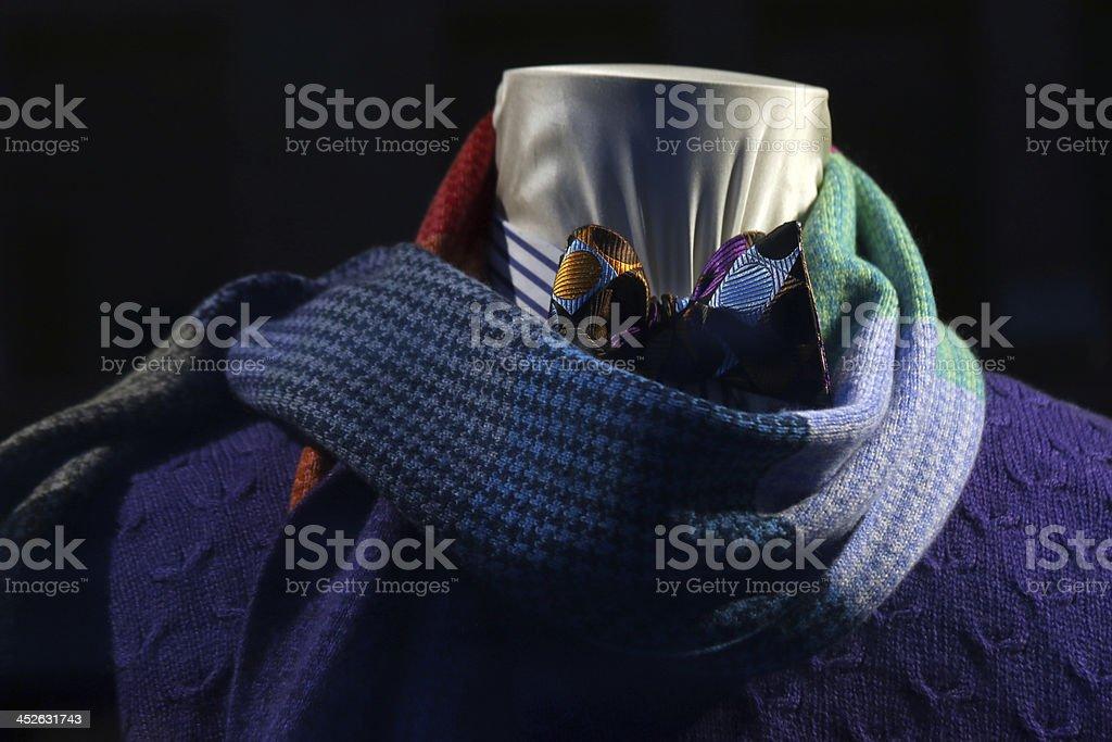 Men's scarf window display royalty-free stock photo