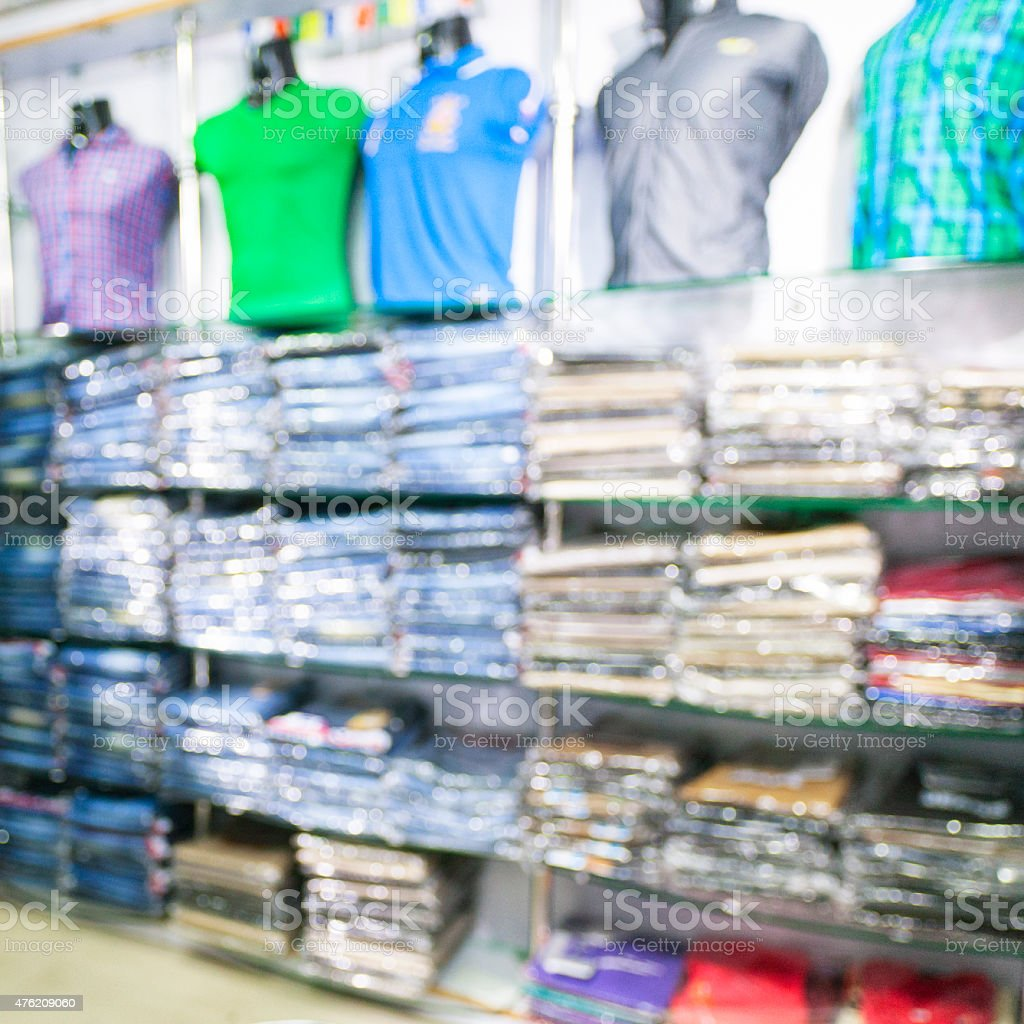 Mens Shirts in a Clothing Store stock photo