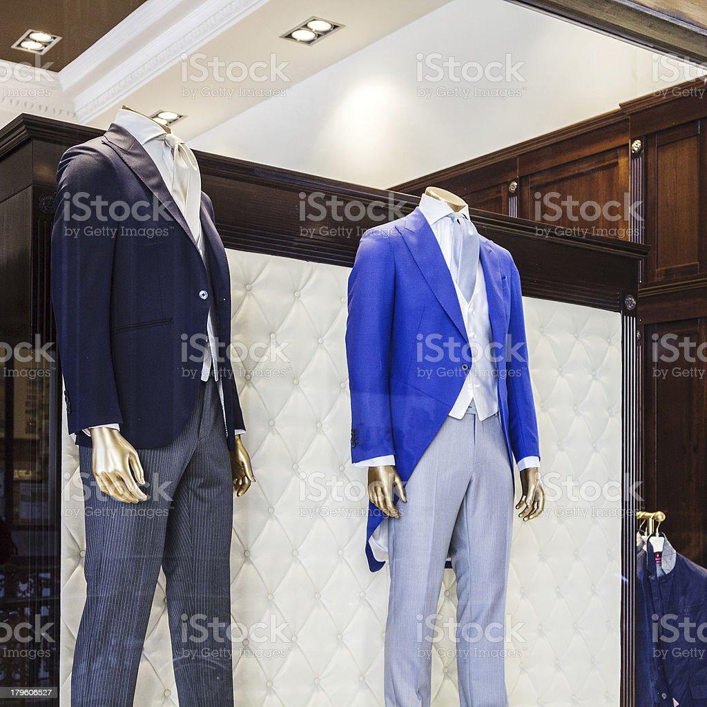 Men's Shop window royalty-free stock photo