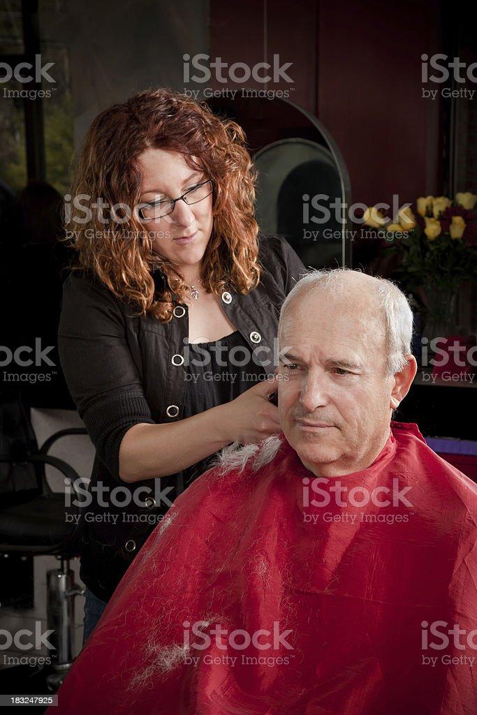 Men's short hair cut royalty-free stock photo
