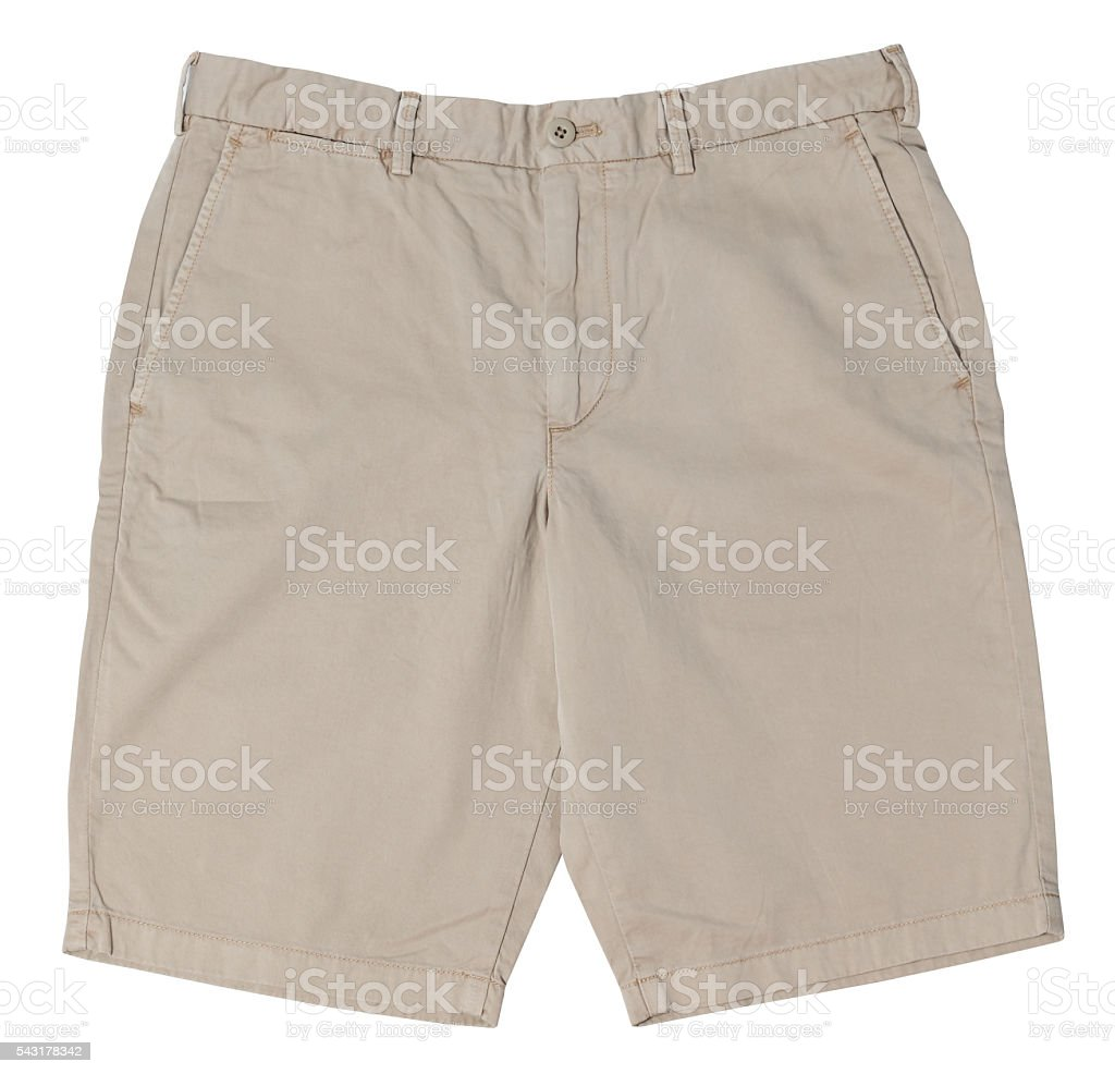 Men's shorts isolated on white background stock photo