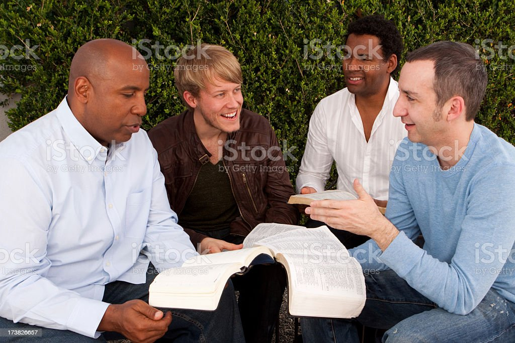 Mens small group stock photo