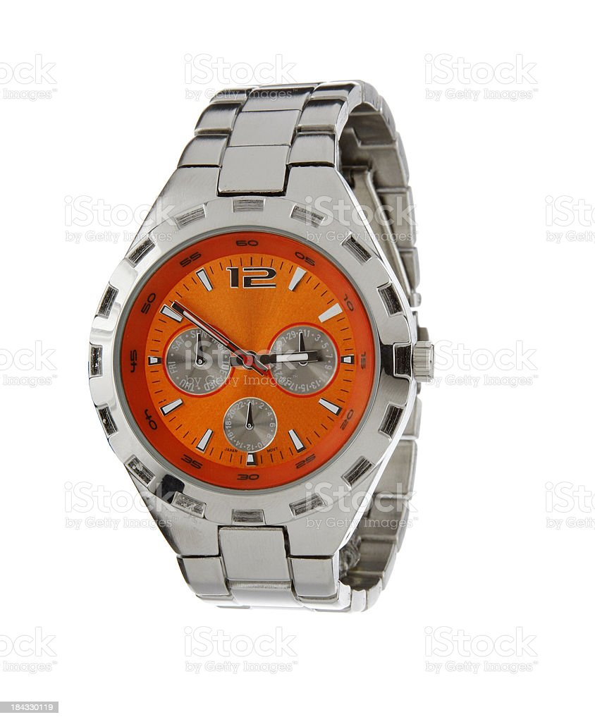 Mens Sport Wrist Watch stock photo