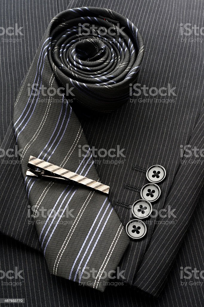 Men's suit and accessories stock photo