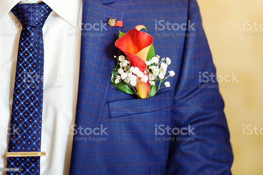Mens suit and tie for businessman stock photo