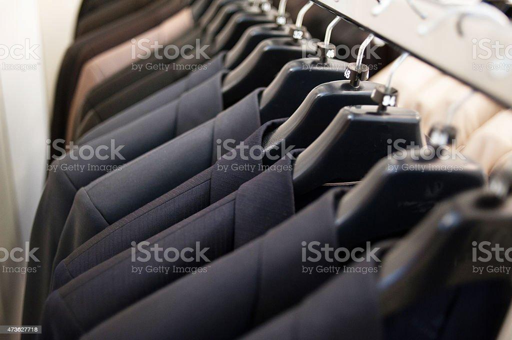 Mens suit jackets stock photo