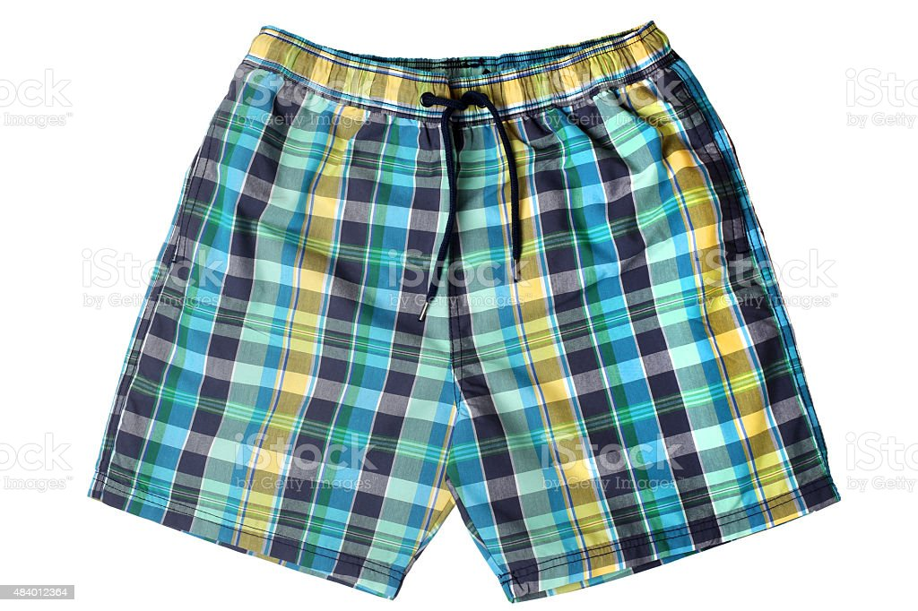 Men's swim trunks stock photo
