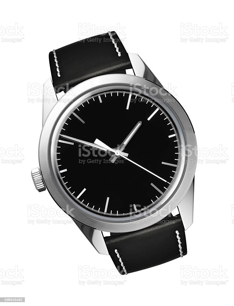 Mens swiss mechanical wrist watch stock photo