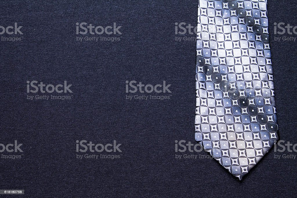 men's tie on a black background stock photo
