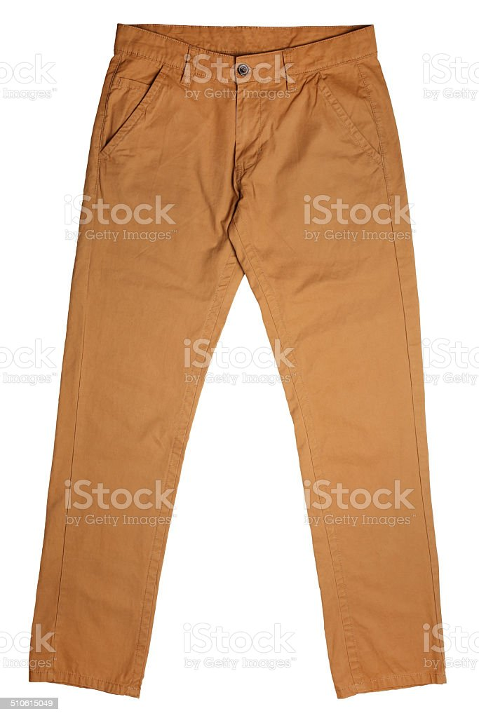 Men's trousers stock photo