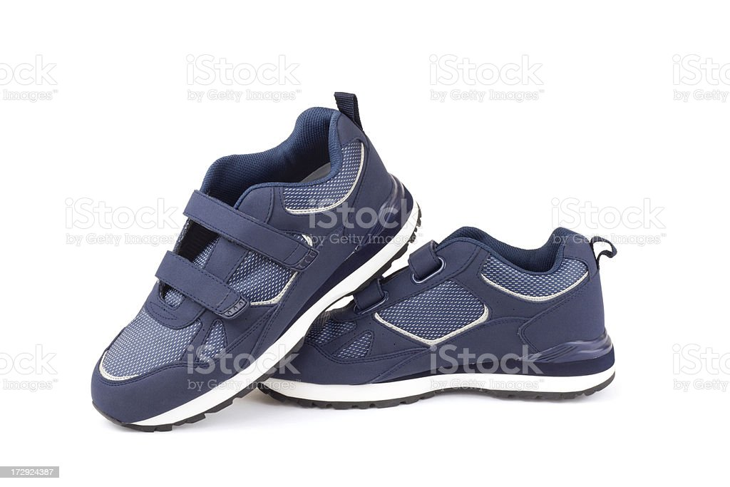 Men's Velcro Shoes royalty-free stock photo