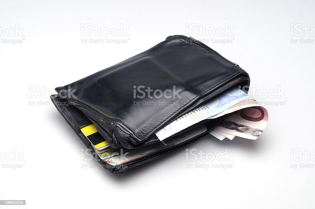 Men's Wallet Leather royalty-free stock photo