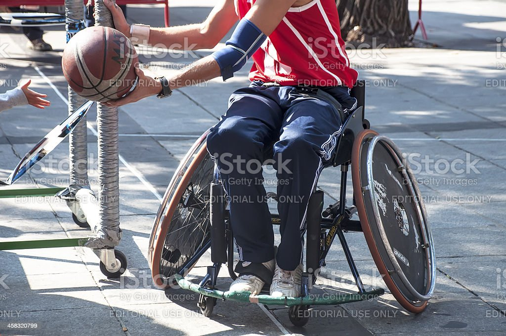 Men's Wheelchair Basketball Action stock photo
