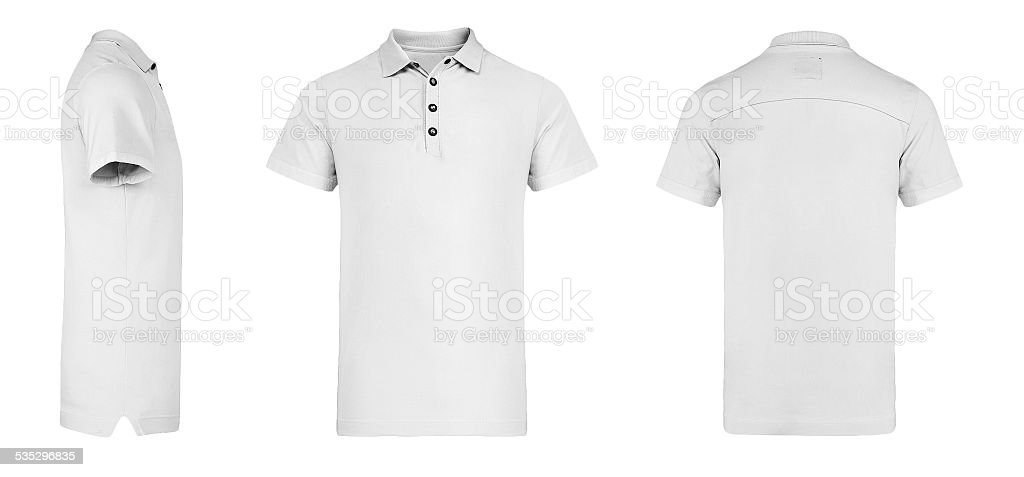 Men's white Polo Shirt multiSides Template stock photo