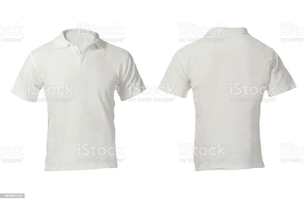 Men's White Polo Shirt Template stock photo