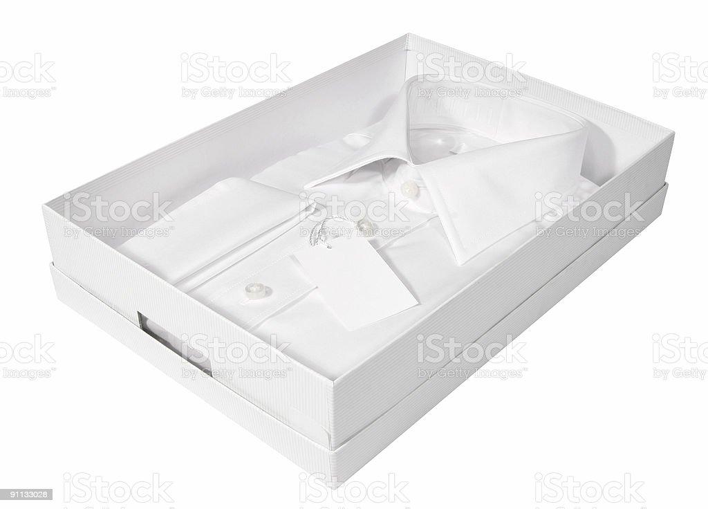 Men's white shirt royalty-free stock photo