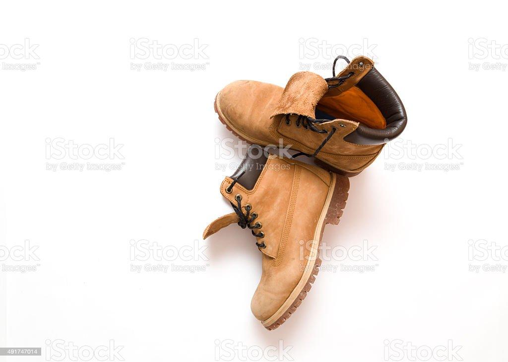 Men's Work Boots stock photo