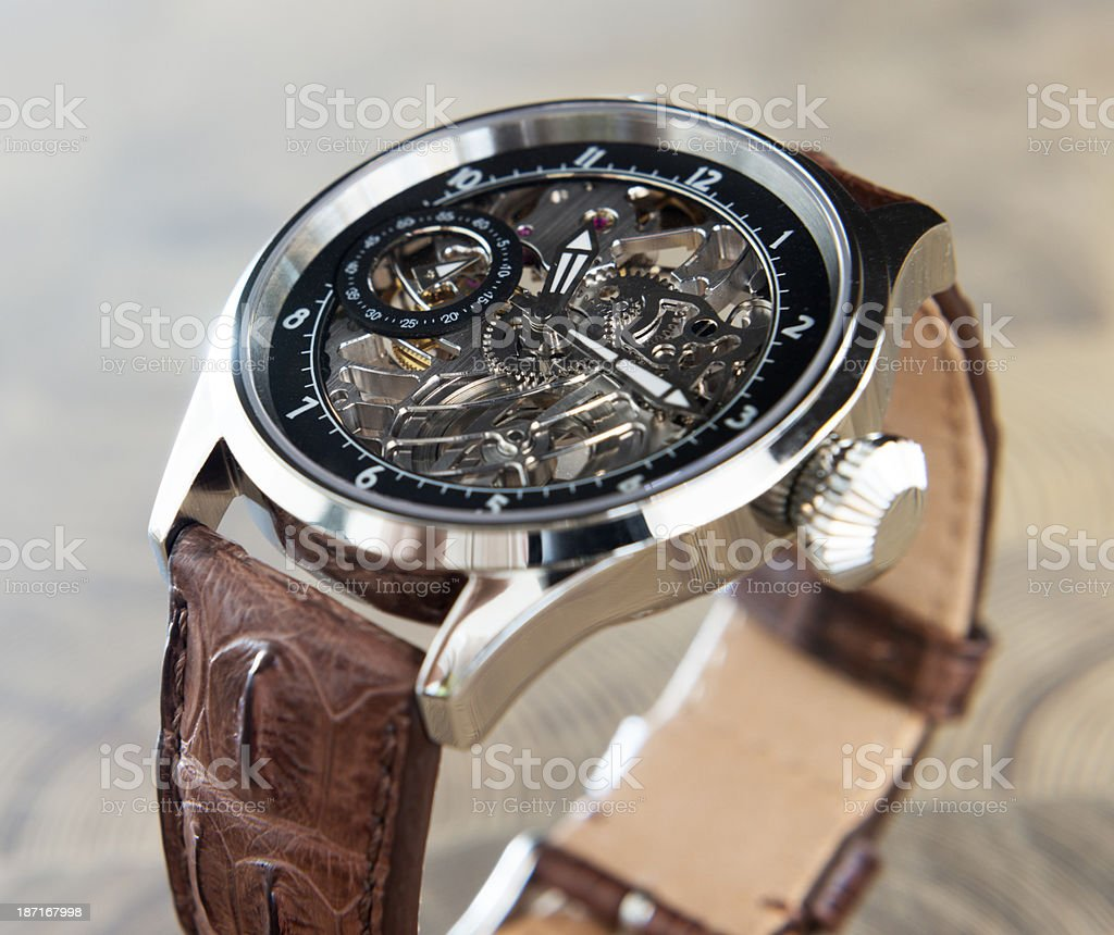 Men's wrist watch stock photo