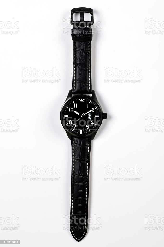 Mens Wristwatch stock photo