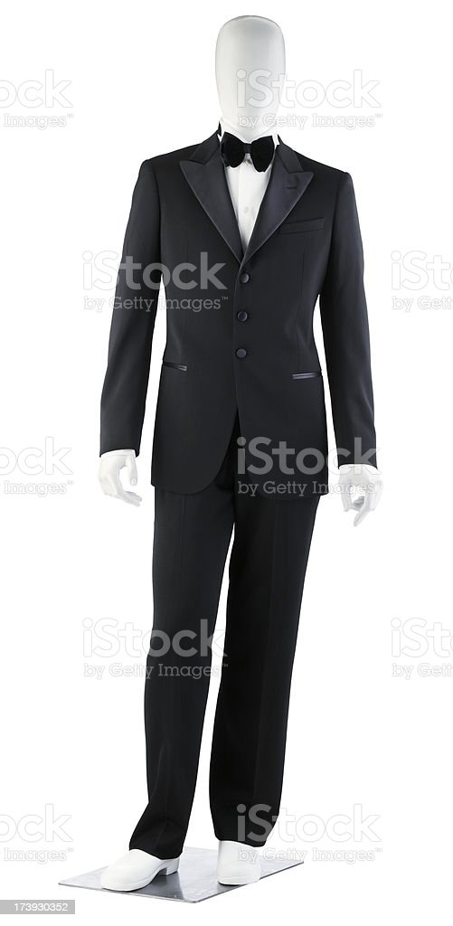 Mens-Tuxedo On Mannequin royalty-free stock photo