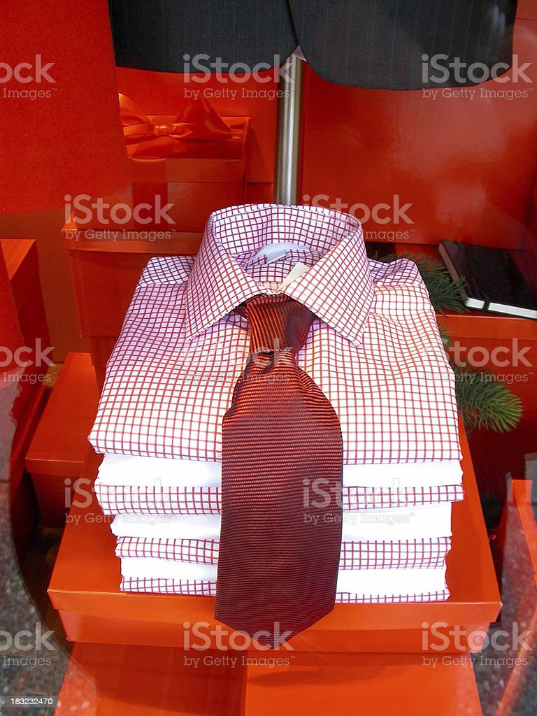 Menswear: Shirts and Tie royalty-free stock photo