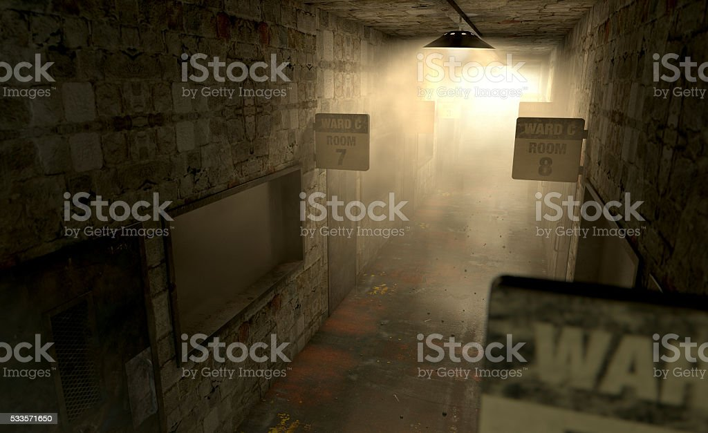 Mental Asylum Haunted stock photo