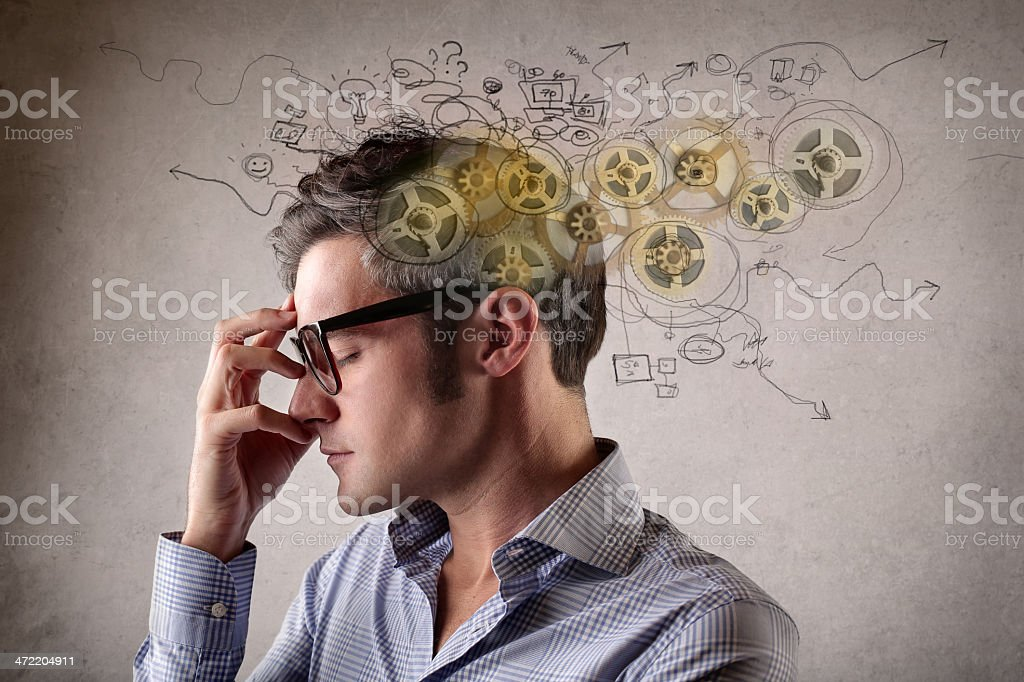 mental cogs stock photo