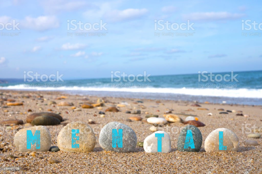 Mental Concept with Balanced Stones stock photo